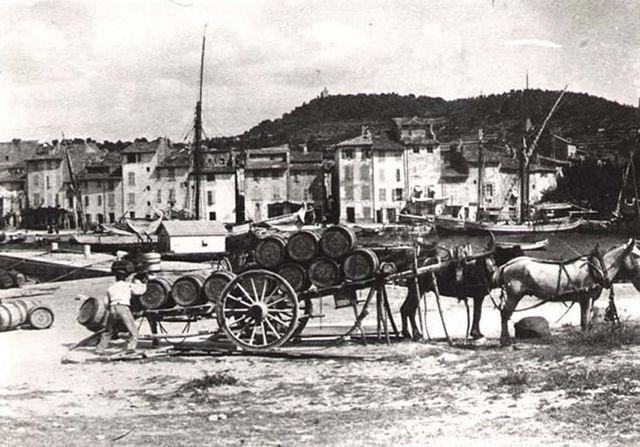 1cassis_arrivee_charrette_barriques1925