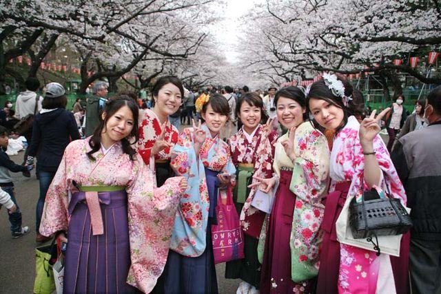 1hanami_women_traditional_dress_ueno_park_tokyo