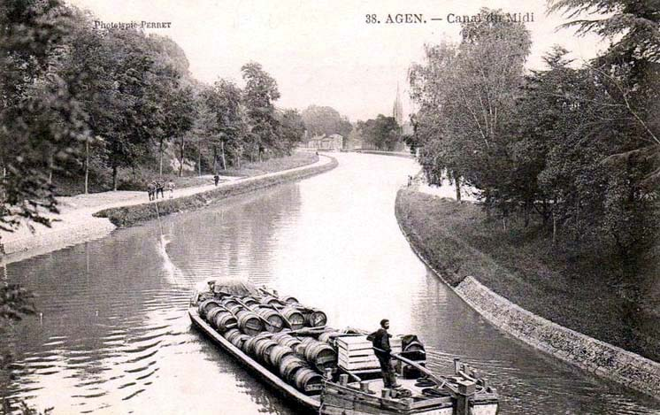 1barge_canal_du_midi_agen1910
