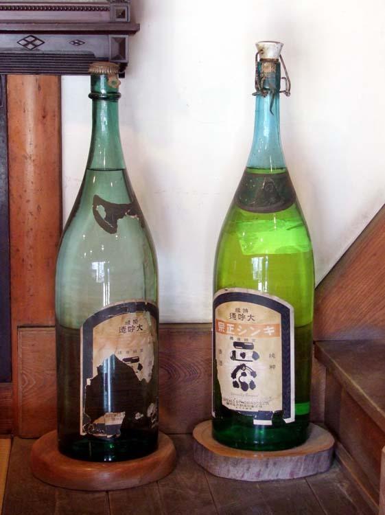 1yoshida_sake_store_tokyo_old_bottles
