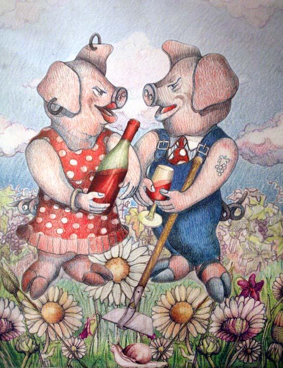 1la_promenade_poster_pigs_wine1