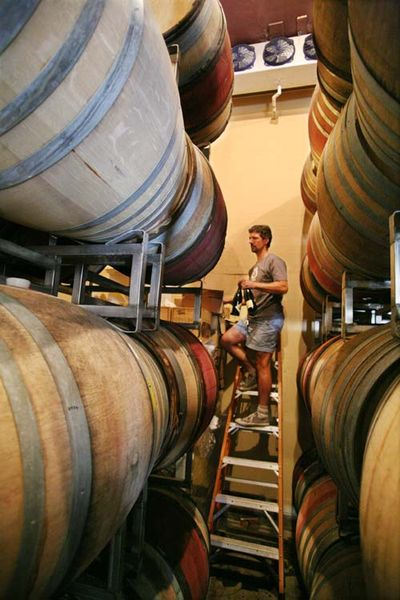 1ojai_winery_california_fabien_climbing_casks