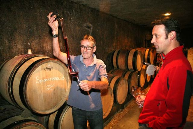 Wine tasting vineyards in france: simon bize burgundy