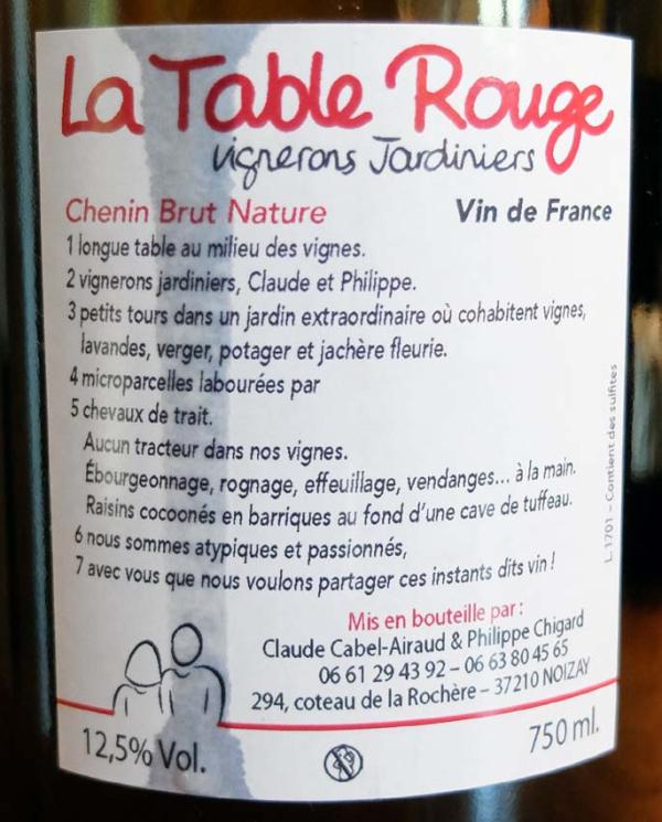 Wine Tasting, Vineyards, in France: La Table Rouge (Loire)